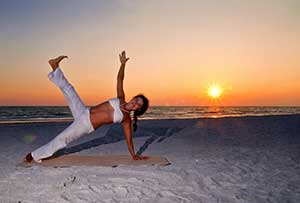 Beach Yoga - Mind Body Fusion Yoga - Instructor Carla Jimenez